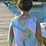 Kirsten\'s son & body painting