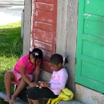 Belizean children playing