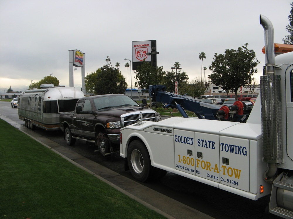 Our white chariot tow truck