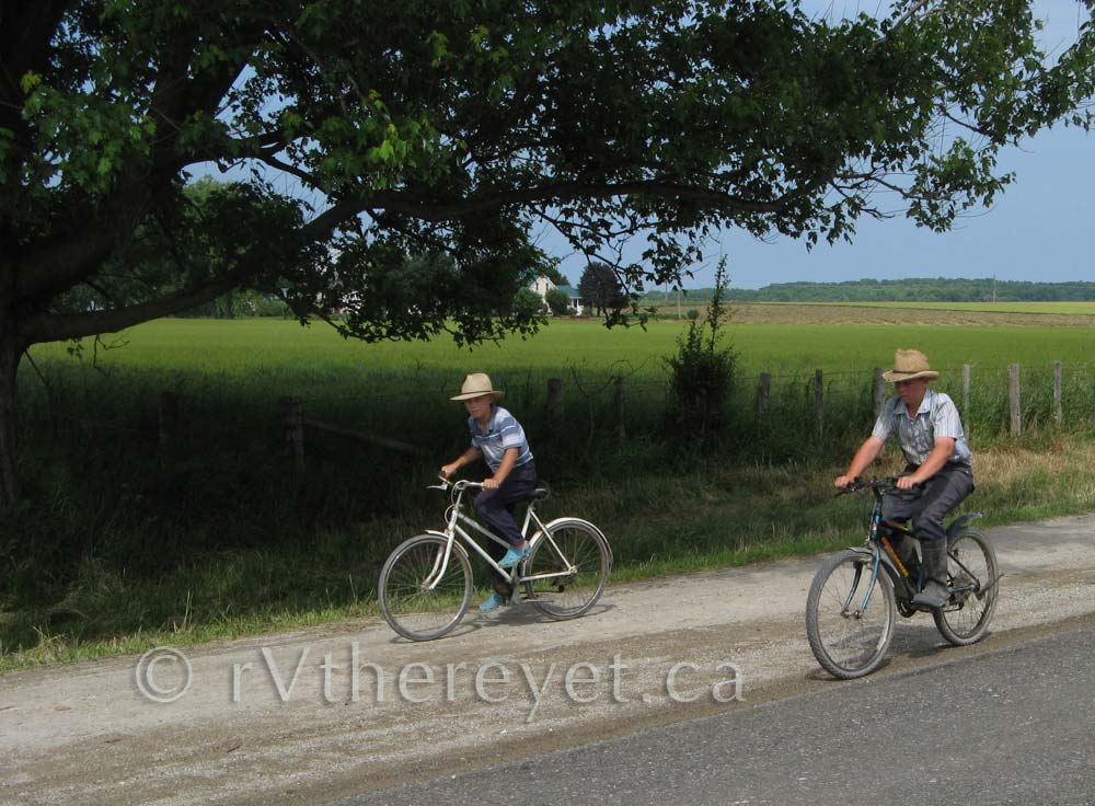Mennonite boys cycling