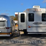 Our Airstream and Erez's RV