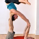 Christoph and me in a Star (shoulder stand)